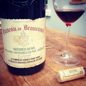1996 Chateau de Beaucastel won at auction