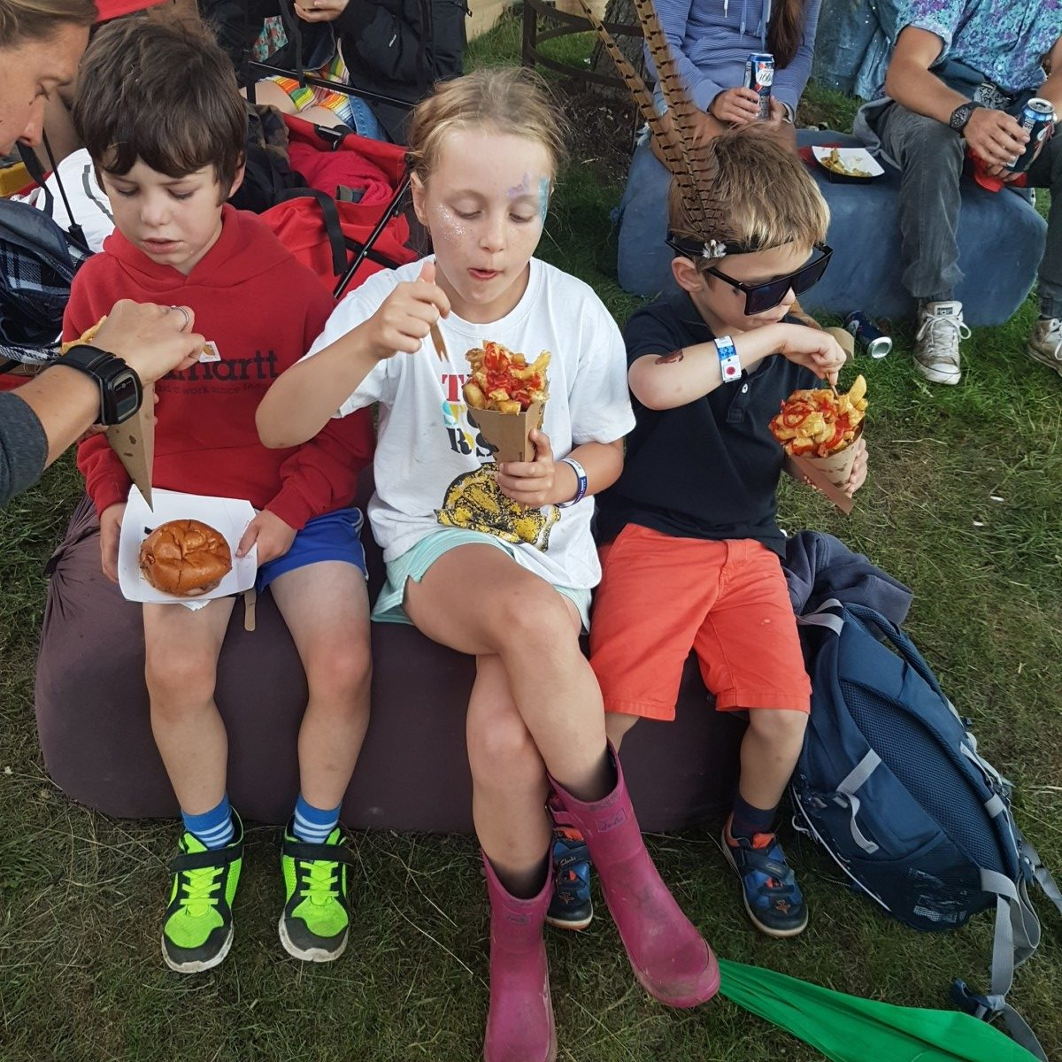 kids cheesy chips Wilderness Festival