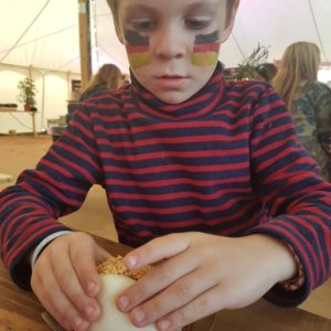 Bao bun kid dining Wilderness Festival