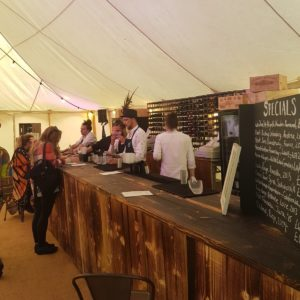 The Cellar wine bar Wilderness Festival